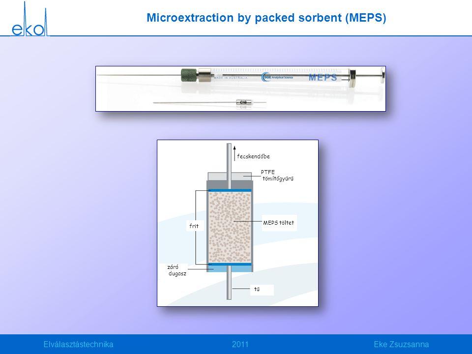 Elválasztástechnika2011Eke Zsuzsanna fecskendőbe PTFE tömítőgyűrű MEPS töltet tű záró dugasz frit Microextraction by packed sorbent (MEPS)