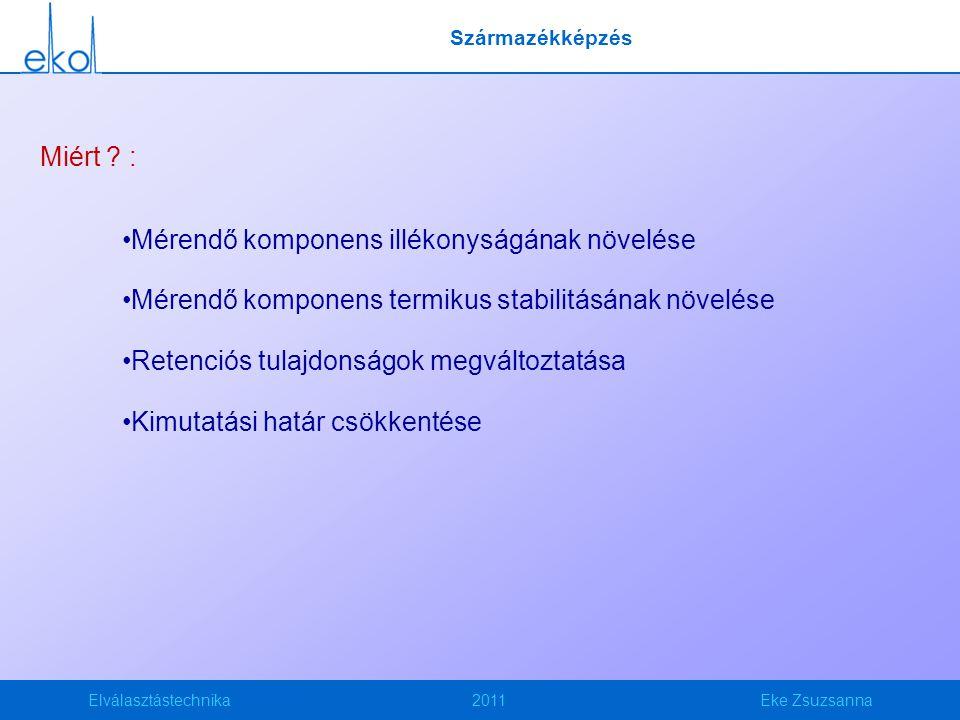 Elválasztástechnika2011Eke Zsuzsanna Származékképzés Miért .