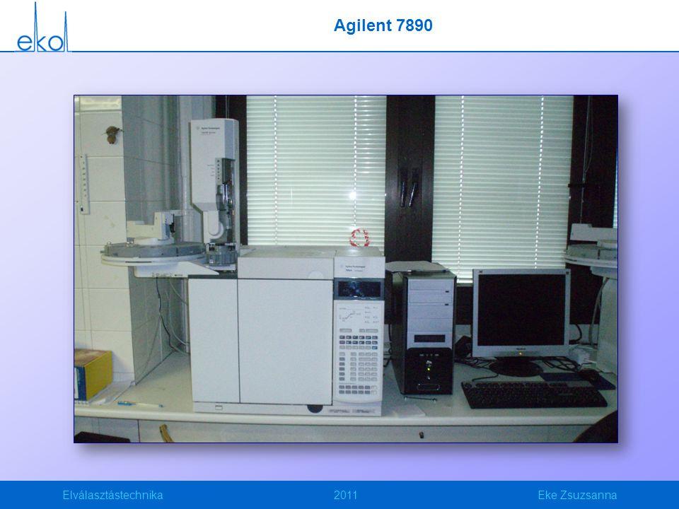 Elválasztástechnika2011Eke Zsuzsanna Agilent 7890