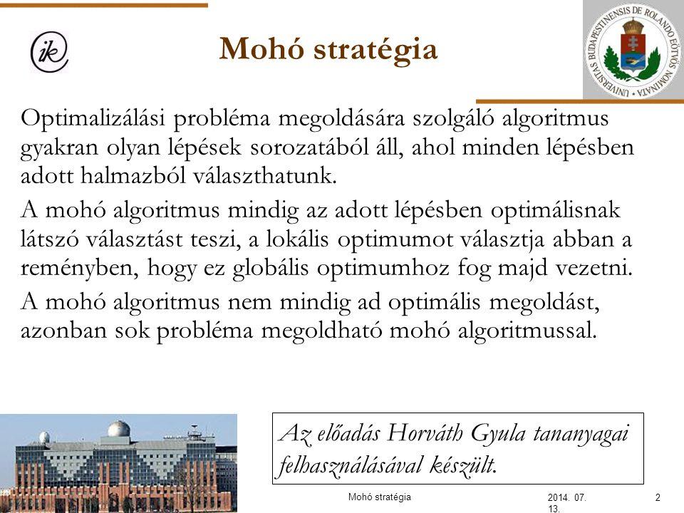 Mohó stratégia 2014.07. 13.