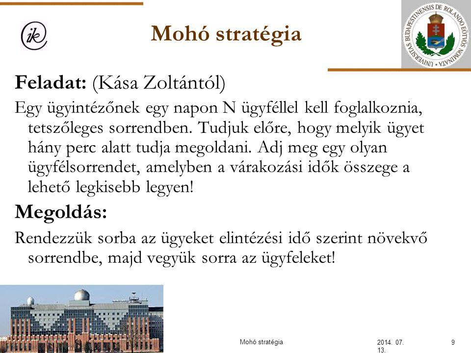 Pakol – mohó stratégia 2014.07. 13.