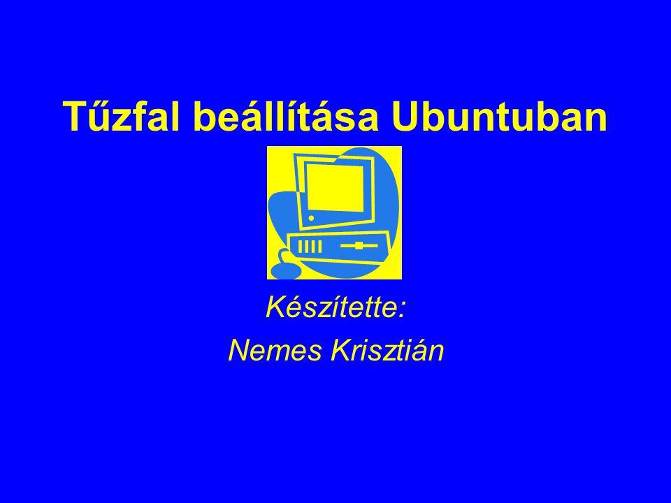 Lássuk először a teljes szkriptet: #--------------------------------- firewall.sh #!/bin/bash #modulok betoltese modprobe ip_conntrack_ftp iptables -F #Minden szabaly torlese iptables -X #Ures lancok torlese iptables -P INPUT DROP #Default policy beallitasa iptables -P OUTPUT DROP iptables -P FORWARD DROP #INPUT lanc iptables -A INPUT -i lo -j ACCEPT #rogton eldobando csomagok: iptables -A INPUT -p tcp -m multiport --dport 67,135,137,138,139,445,1026,1027,5900,6881 -j DROP iptables -A INPUT -p udp -m multiport --dport 67,135,137,138,139,445,1026,1027,5900 -j DROP iptables -A INPUT -m state --state ESTABLISHED,RELATED -j ACCEPT iptables -A INPUT -p tcp --dport 22 -m mac --mac-source 11:11:11:11:11:11 -j ACCEPT #ssh iptables -A INPUT -p icmp --icmp-type echo-request -m limit --limit 1/m --limit-burst 1 -j ACCEPT iptables -A INPUT -j LOG --log-prefix INPUT_DROP: iptables -A INPUT -j DROP #OUTPUT lanc iptables -A OUTPUT -o lo -j ACCEPT iptables -A OUTPUT -m state --state ESTABLISHED,RELATED -j ACCEPT iptables -A OUTPUT -p tcp -m multiport --dport 20,21,43,80,443 -j ACCEPT iptables -A OUTPUT -p udp --dport 53 -j ACCEPT #DNS iptables -A OUTPUT -p tcp --dport 22 -j ACCEPT iptables -A OUTPUT -p icmp --icmp-type echo-request -j ACCEPT iptables -A OUTPUT -p tcp --dport 20 -j ACCEPT #ftp iptables -A OUTPUT -p tcp --dport 21 -j ACCEPT #ftp iptables -A OUTPUT -p tcp --dport 2379 -j ACCEPT #KGS iptables -A OUTPUT -j LOG --log-prefix OUTPUT_DROP: iptables -A OUTPUT -j DROP if test -r /etc/iptables.rules; then rm -f /etc/iptables.rules fi #Tűzfal mentése iptables-save -c > /etc/iptables.rules if test -r /etc/iptables.rules; then echo A Tuzfal mentese sikeres! fi #--------------------firewall.sh