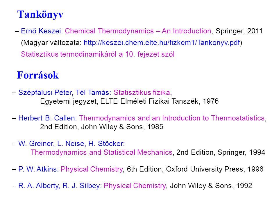 Források – Szépfalusi Péter, Tél Tamás: Statisztikus fizika, Egyetemi jegyzet, ELTE Elméleti Fizikai Tanszék, 1976 – Herbert B.