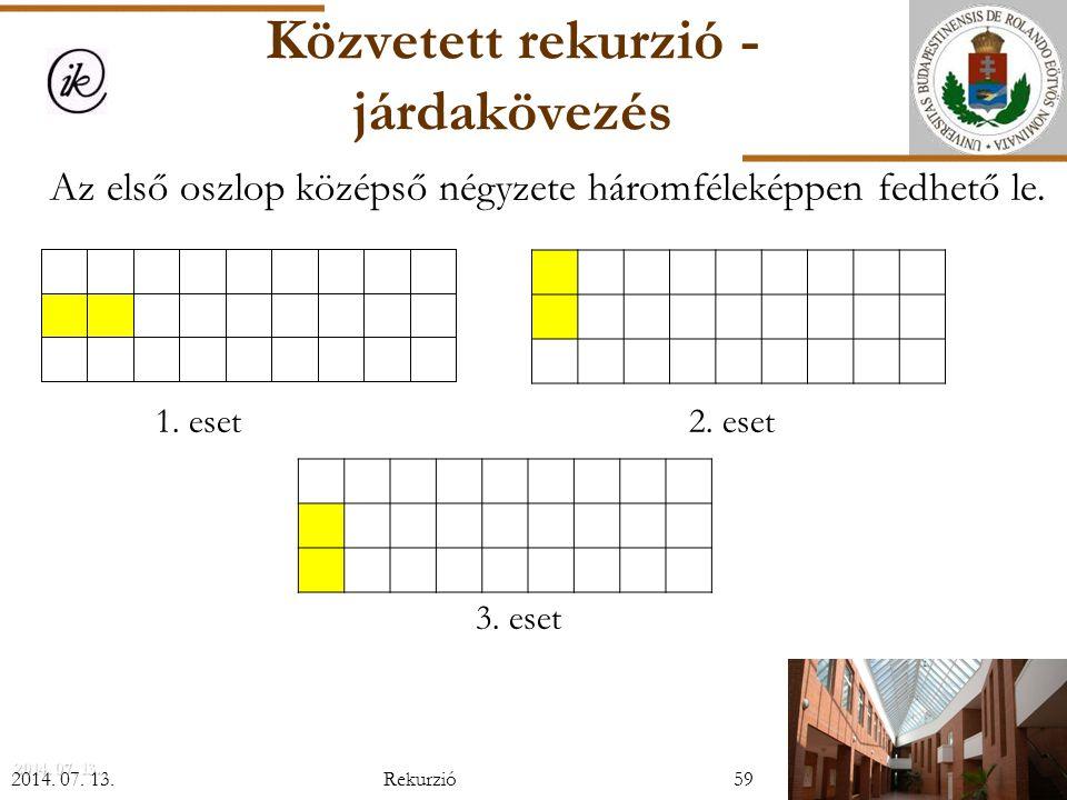 2014.07. 13.2014. 07. 13.2014. 07. 13. Az első oszlop középső négyzete háromféleképpen fedhető le.