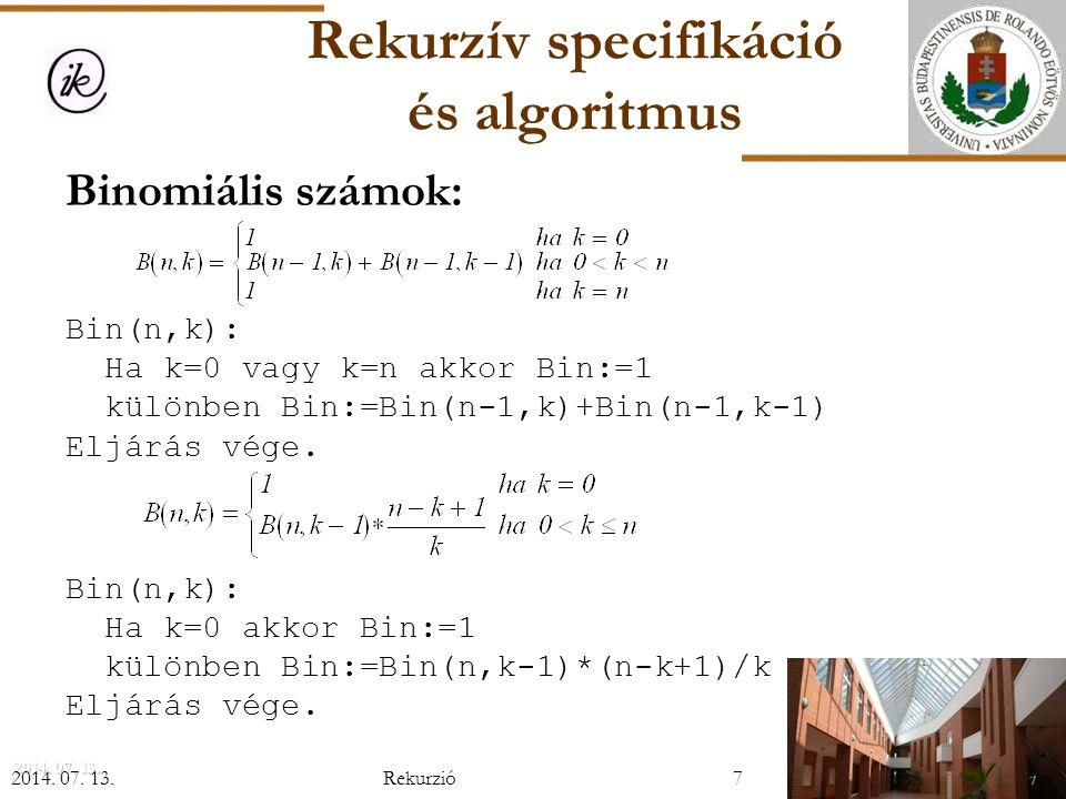 N szám legnagyobb közös osztója  A sorozatot bontsuk két részre; mindkét résznek határoz- zuk meg a legnagyobb közös osztóját, majd ezek legna- gyobb közös osztója lesz a megoldás.