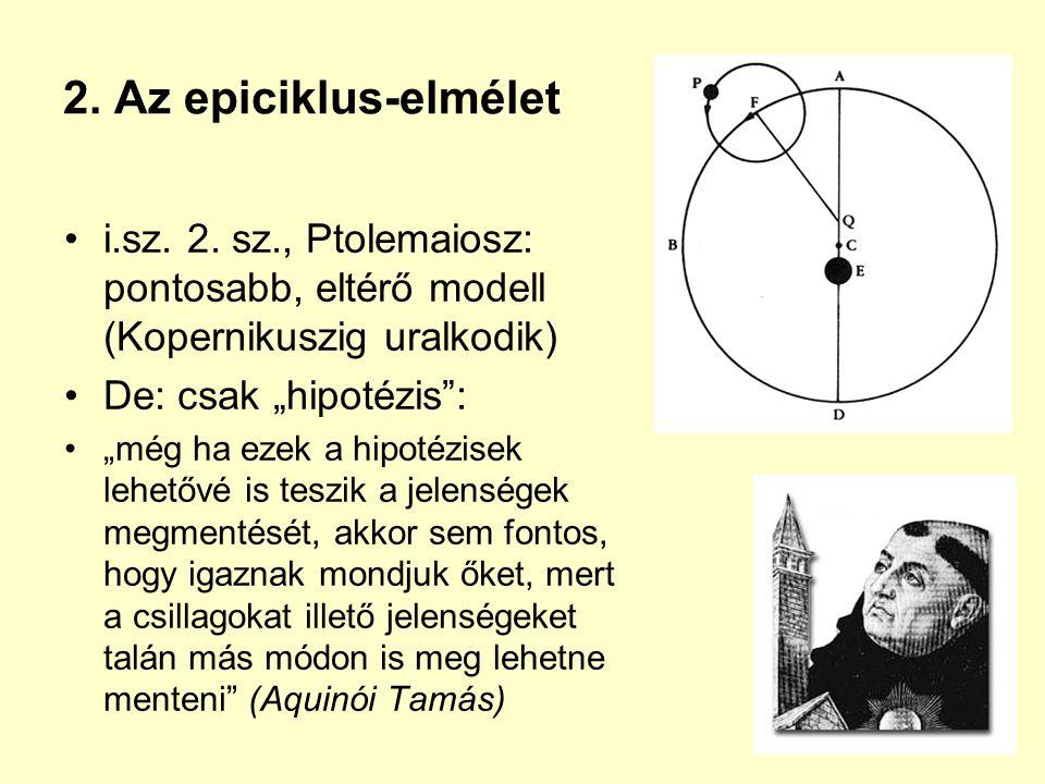 2. Az epiciklus-elmélet i.sz. 2.