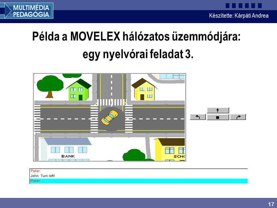 Készítette: Kárpáti Andrea 17 Példa a MOVELEX hálózatos üzemmódjára: egy nyelvórai feladat 3.