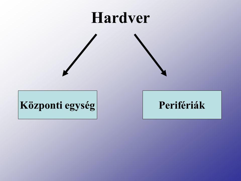 Hardver Központi egységPerifériák