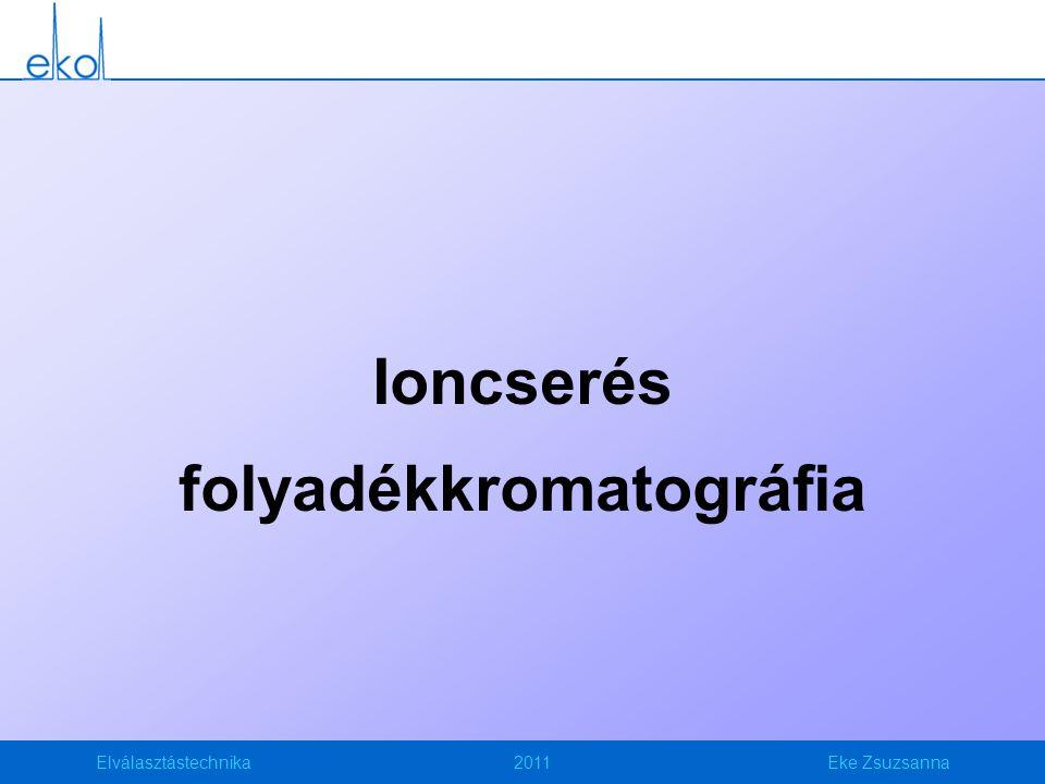 Elválasztástechnika2011Eke Zsuzsanna Ioncserés folyadékkromatográfia