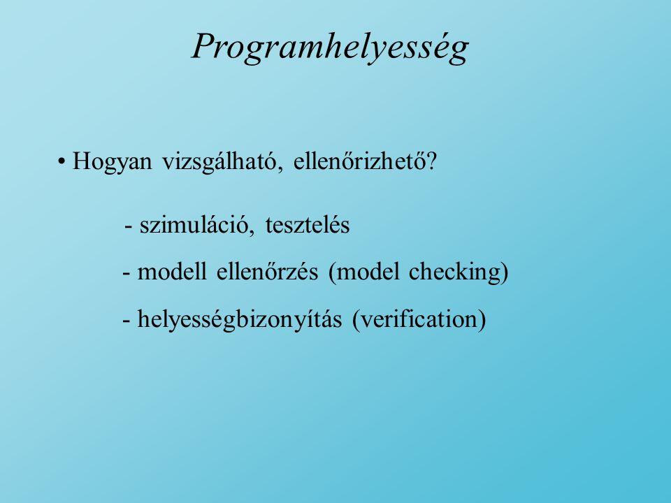 Programhelyesség Hogyan vizsgálható, ellenőrizhető.