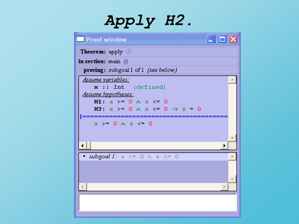 Apply H2.