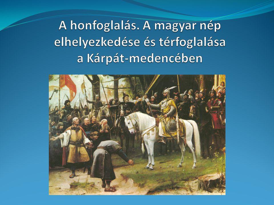 A térképek forrása: Róna-Tas A.: A honfoglaló magyar nép