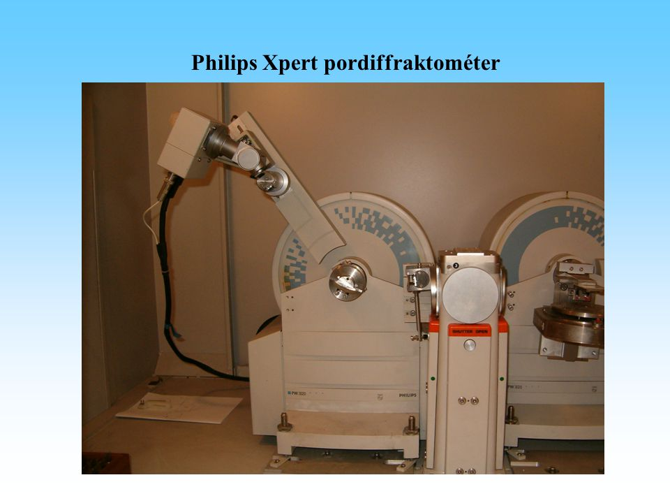 Philips Xpert pordiffraktométer