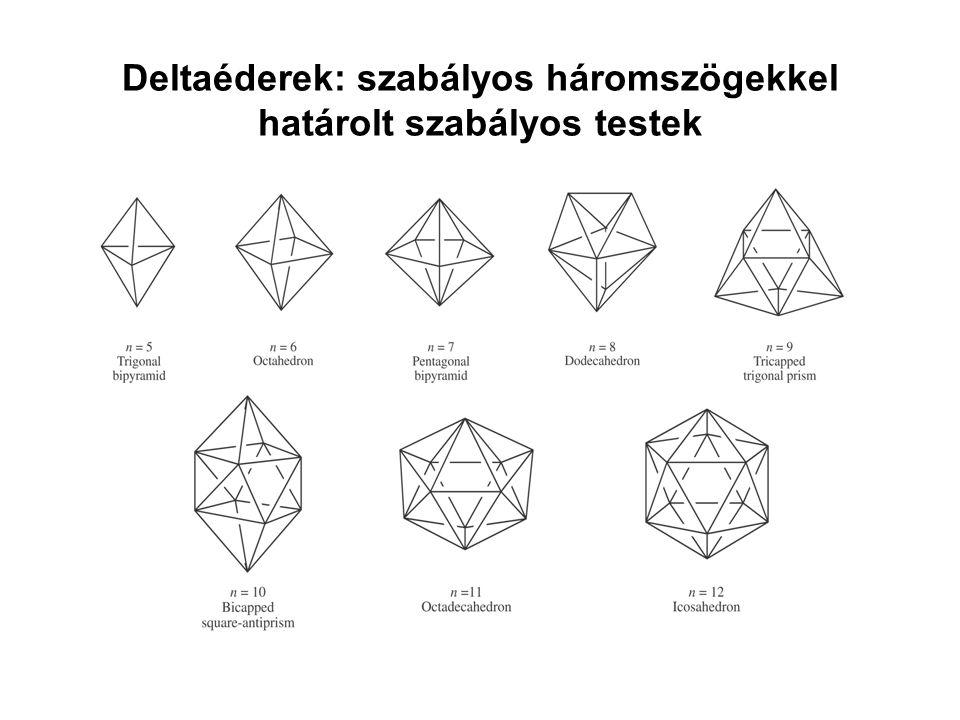 Deltaéderek: szabályos háromszögekkel határolt szabályos testek
