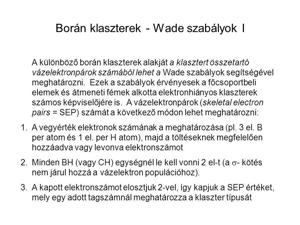Borán klaszterek - Wade szabályok II 4.