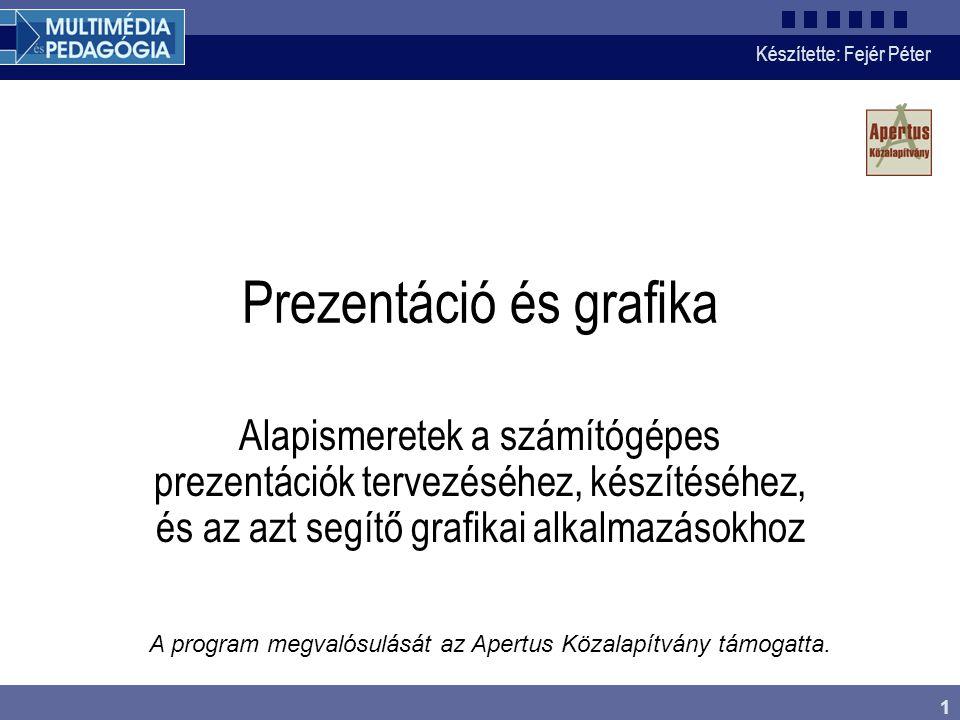 Készítette: Fejér Péter 2 A prezentáció Prezentáció (bemutató) alatt vizuális segédeszköz felhasználásával történő információ átadására irányuló tevékenységet értünk.