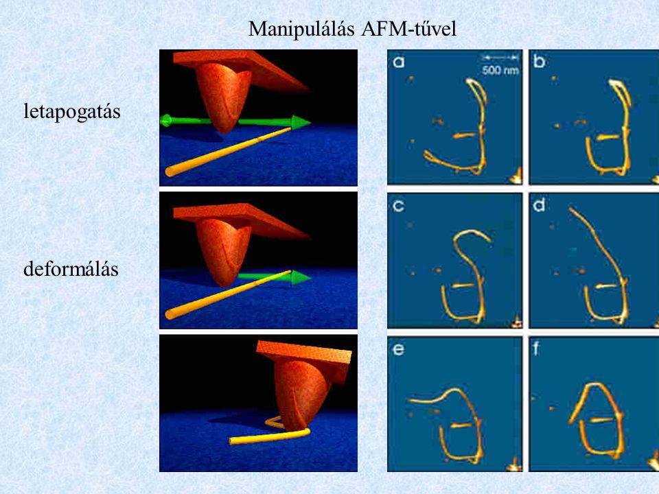 Manipulálás AFM-tűvel letapogatás deformálás