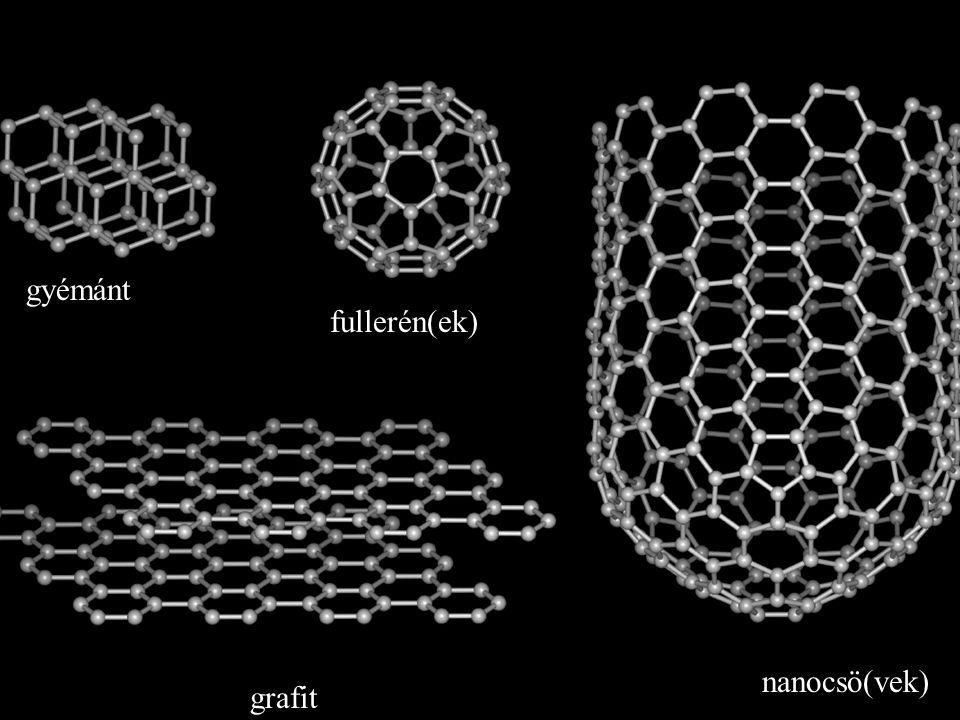 grafit gyémánt fullerén(ek) nanocsö(vek)