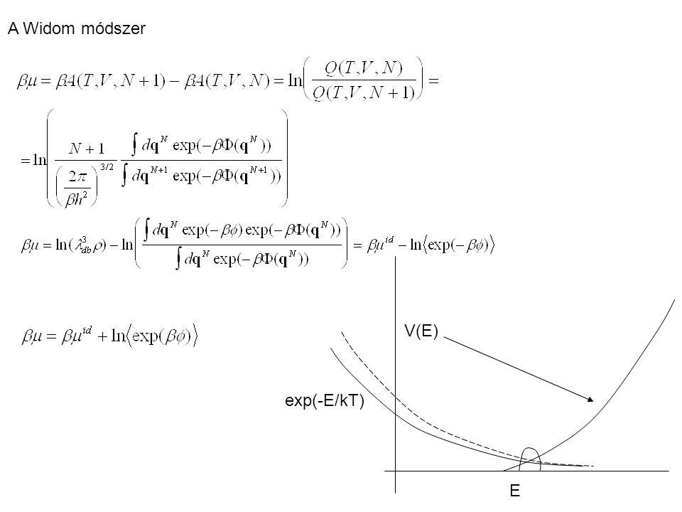 Eloszlásfüggvények kanonikus Kirkwood aszimptotikus alak potential of mean force Párkorrelációs függvény