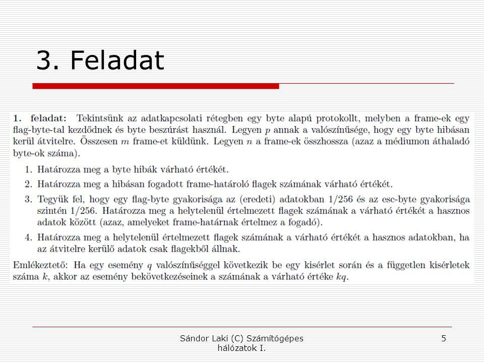 3. Feladat Sándor Laki (C) Számítógépes hálózatok I. 5