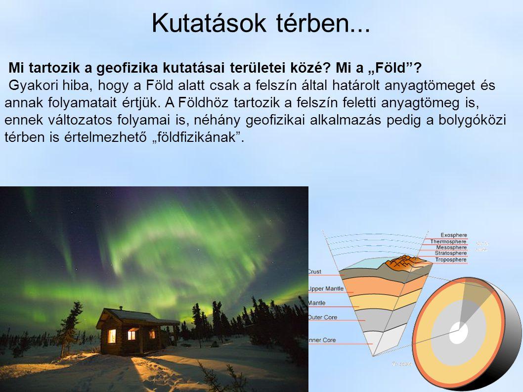 """Kutatások térben... Mi tartozik a geofizika kutatásai területei közé? Mi a """"Föld""""? Gyakori hiba, hogy a Föld alatt csak a felszín által határolt anyag"""