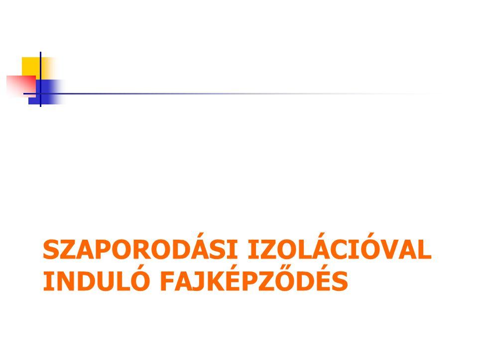 SZAPORODÁSI IZOLÁCIÓVAL INDULÓ FAJKÉPZŐDÉS