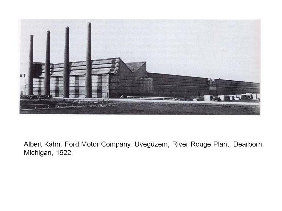 Albert Kahn: Ford Motor Company, Üvegüzem, River Rouge Plant. Dearborn, Michigan, 1922.