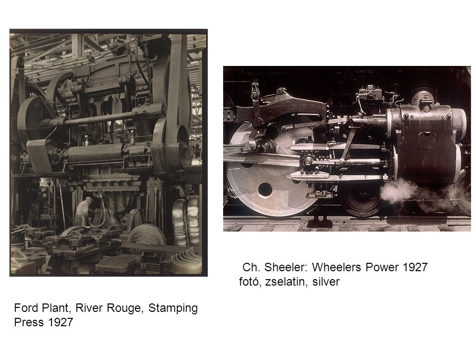 Ford Plant, River Rouge, Stamping Press 1927 Ch. Sheeler: Wheelers Power 1927 fotó, zselatin, silver