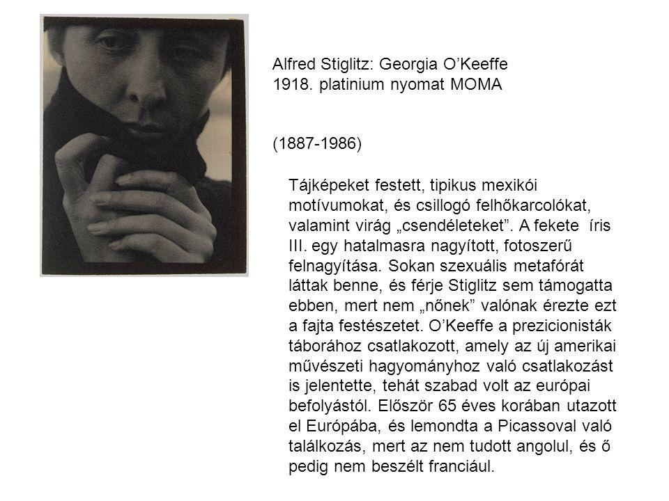Alfred Stiglitz: Georgia O'Keeffe 1918.