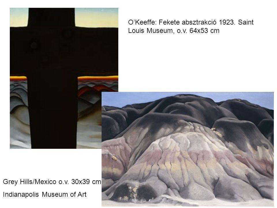 O'Keeffe: Fekete absztrakció 1923.Saint Louis Museum, o.v.