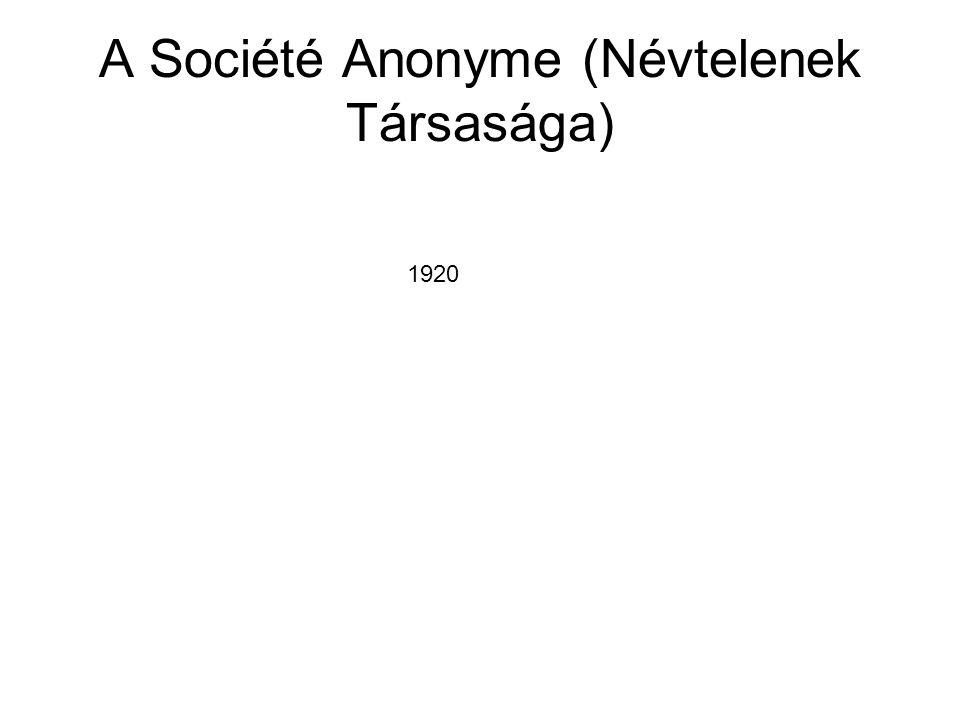 A Société Anonyme (Névtelenek Társasága) 1920