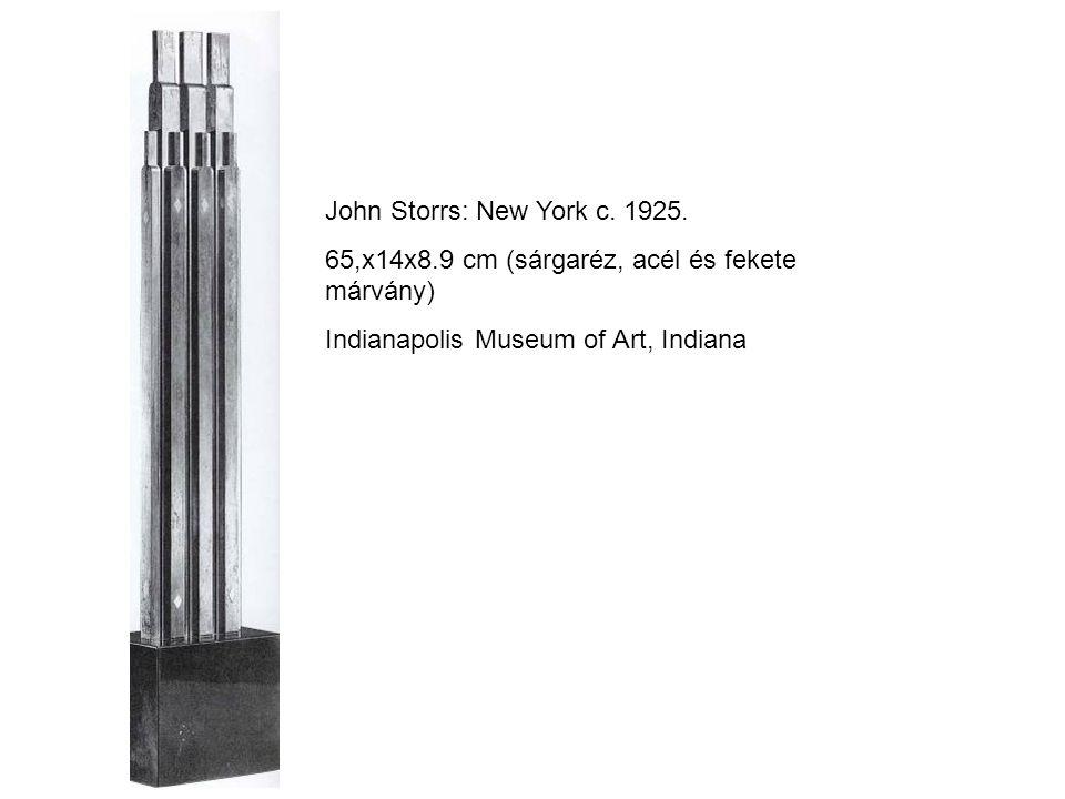 John Storrs: New York c.1925.