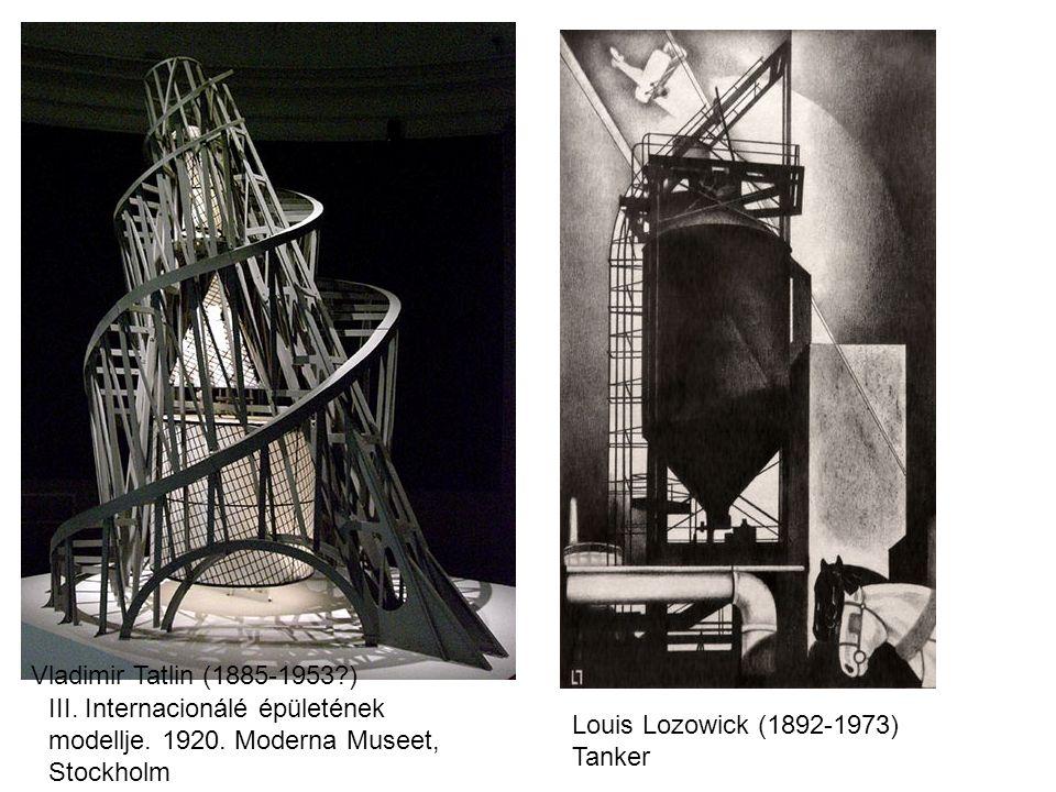Vladimir Tatlin (1885-1953?) Louis Lozowick (1892-1973) Tanker III.