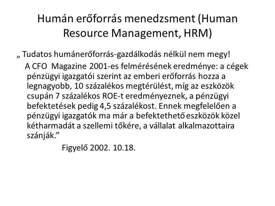 """Humán erőforrás menedzsment (Human Resource Management, HRM) """" Tudatos humánerőforrás-gazdálkodás nélkül nem megy."""
