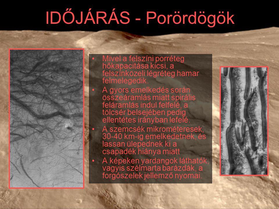 IDŐJÁRÁS - Porördögök Mivel a felszíni porréteg hőkapacitása kicsi, a felszínközeli légréteg hamar felmelegedik. A gyors emelkedés során összeáramlás