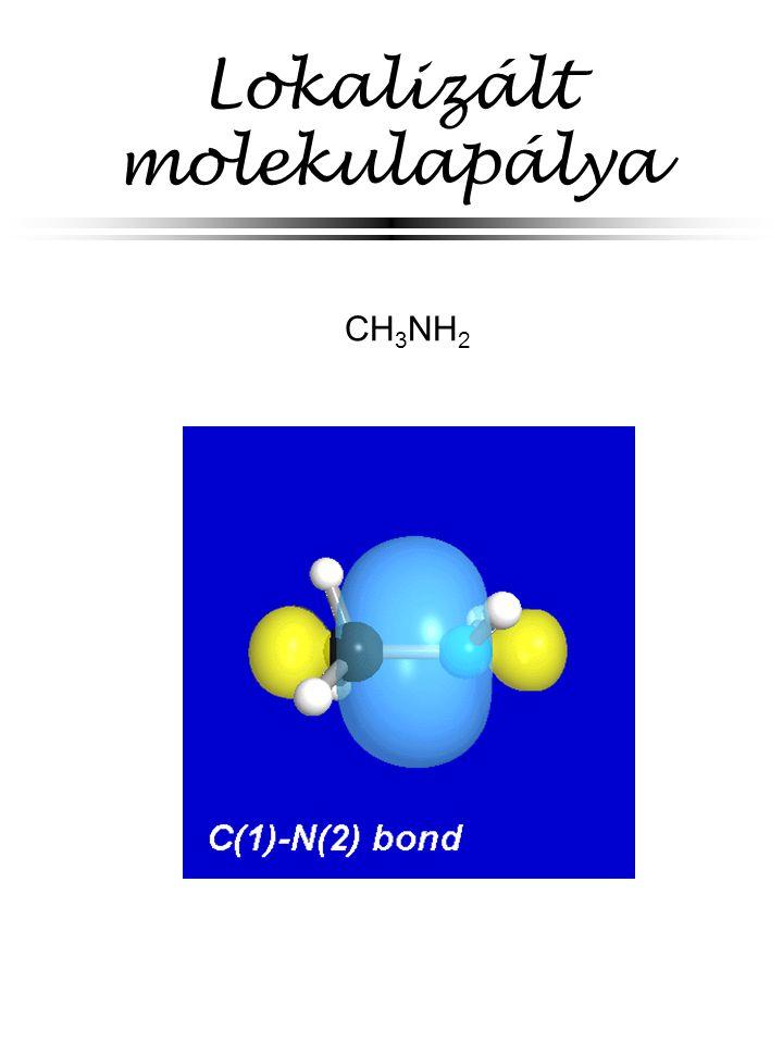 Lokalizált molekulapálya CH 3 NH 2