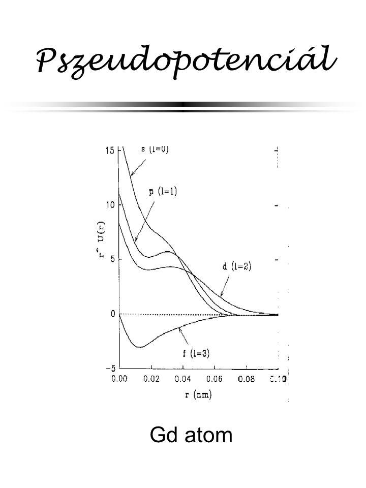 Pszeudopotenciál Gd atom