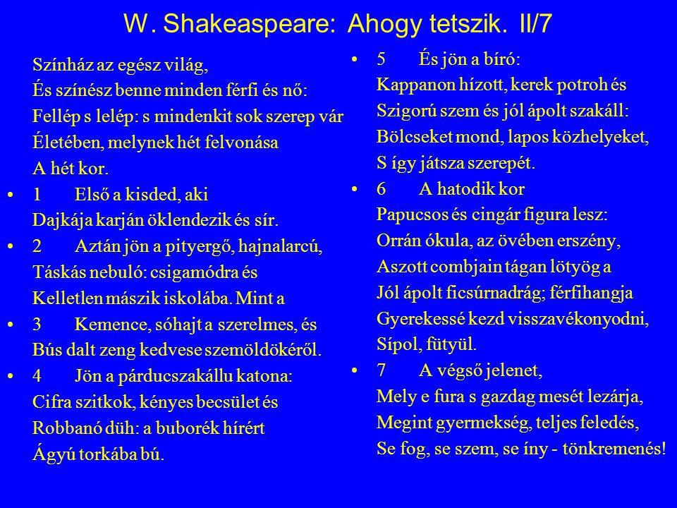 W.Shakeaspeare: Ahogy tetszik.