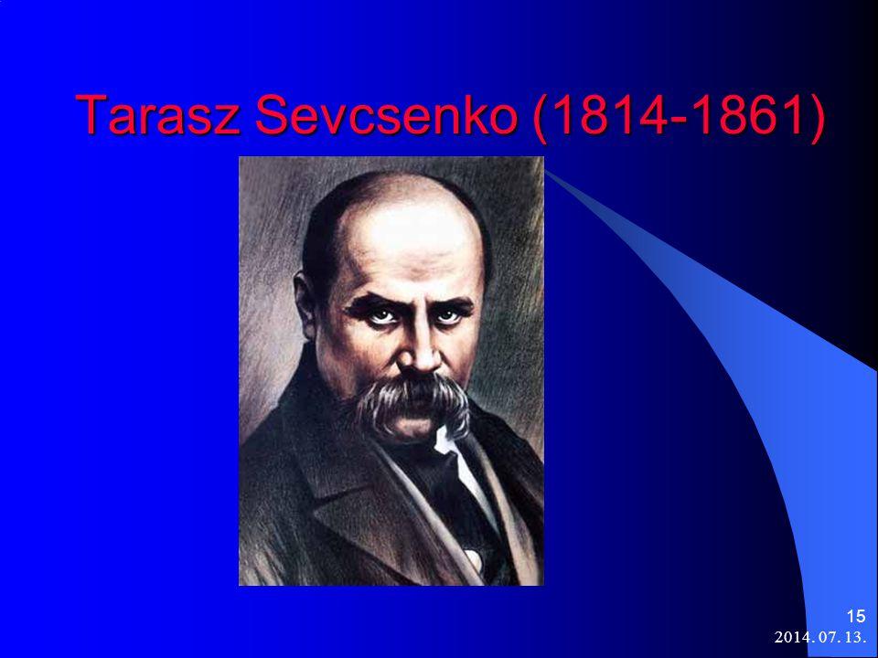 2014. 07. 13. 15 Tarasz Sevcsenko (1814-1861)