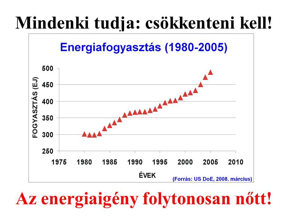Az energiaigény folytonosan nőtt! Mindenki tudja: csökkenteni kell!
