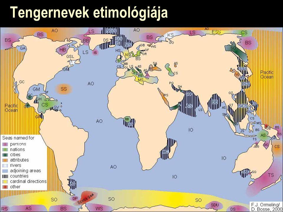 Tengernevek etimológiája személyekről városokról