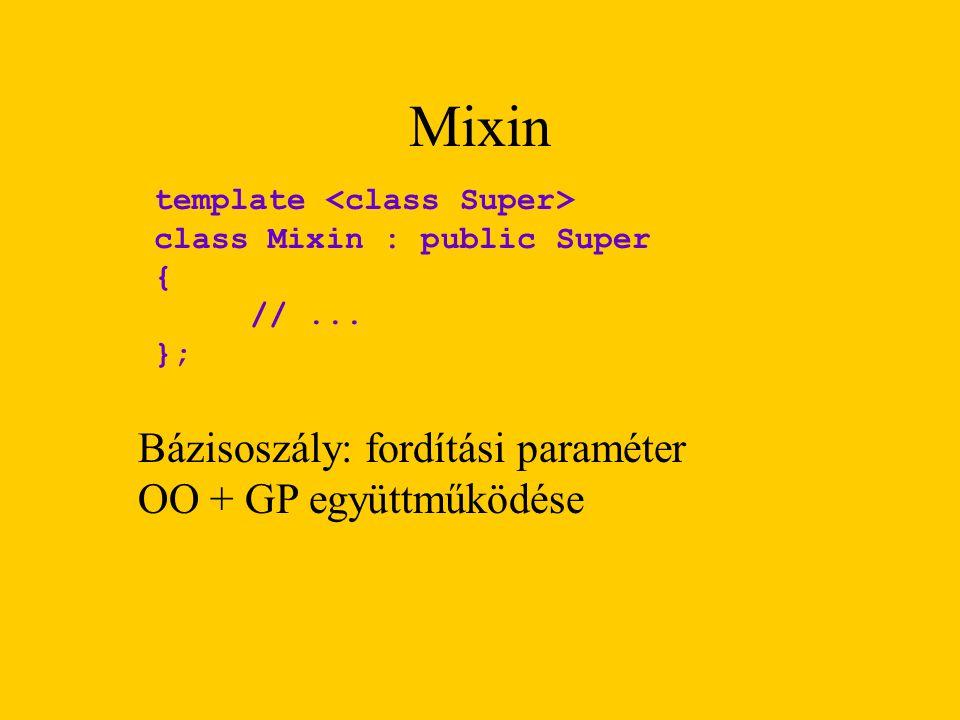 Mixin template class Mixin : public Super { //...