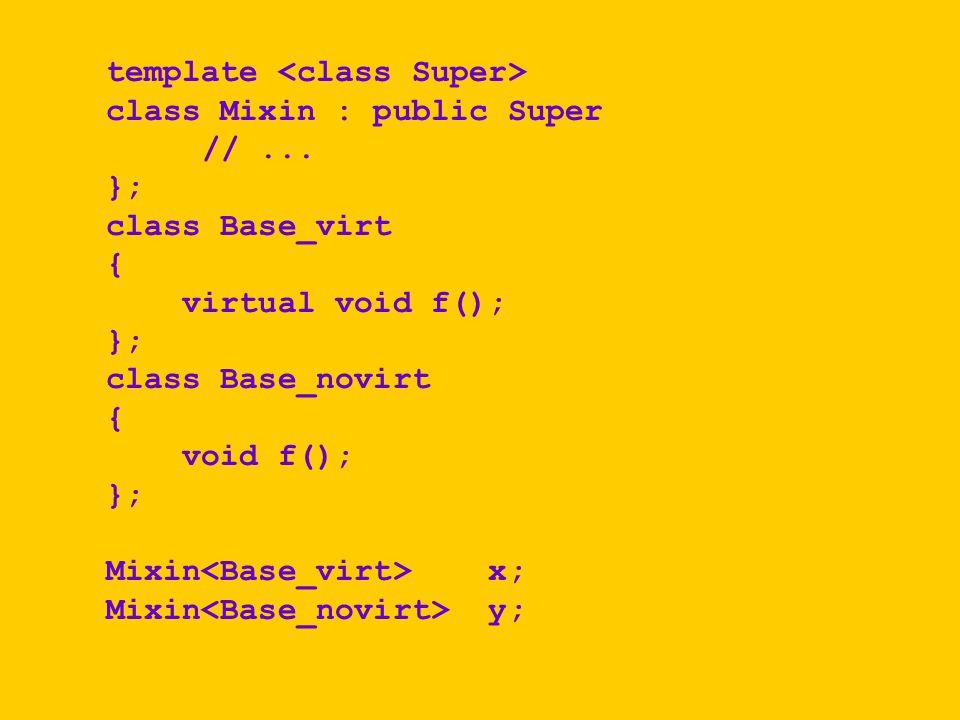 template class Mixin : public Super //...