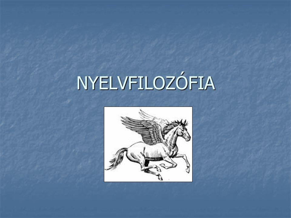 Vizsga Előadások: Előadások: http://hps.elte.hu/~gszabo/Filozofiadiszciplinai.html http://hps.elte.hu/~gszabo/Filozofiadiszciplinai.html Nyelvfilozófia Nyelvfilozófia Tankönyv: Tankönyv: Farkas Katalin, Kelemen János, Nyelvfilozófia, Áron Kiadó, 2002.