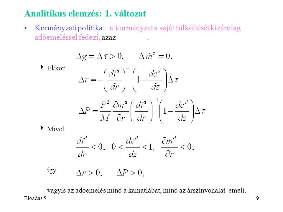 Előadás 59 Analitikus elemzés: 1.