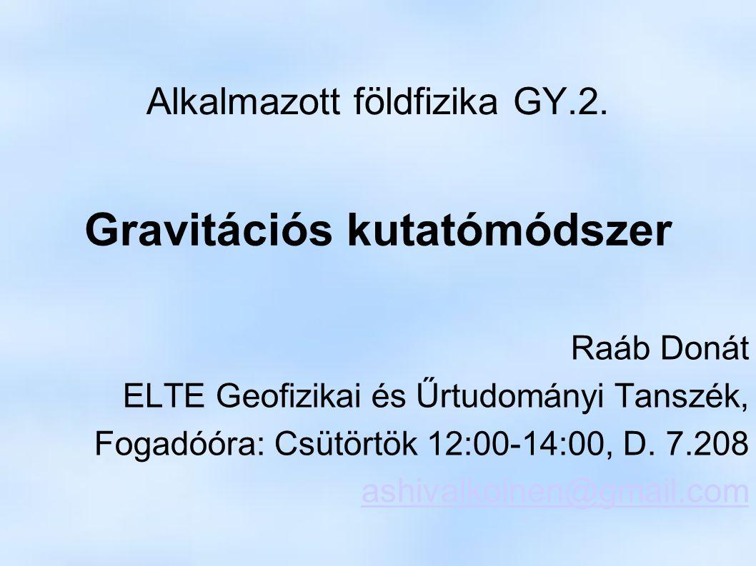 Alkalmazott földfizika GY.2.