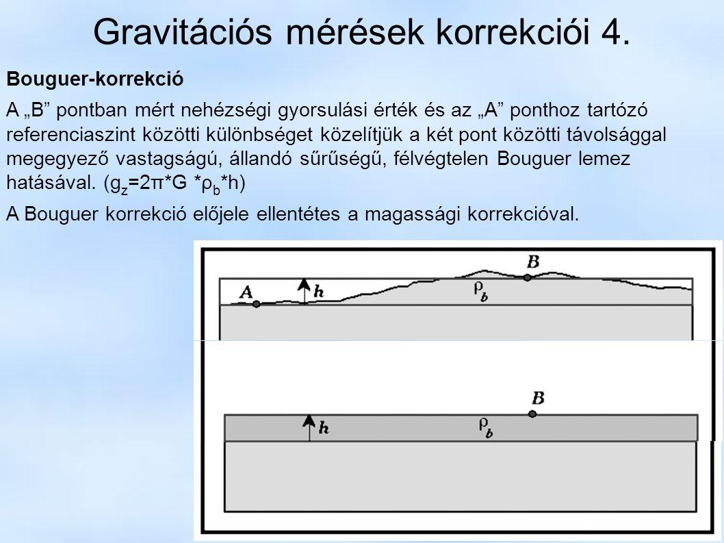 Gravitációs mérések korrekciói 4.