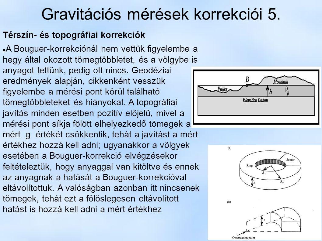 Gravitációs mérések korrekciói 5.