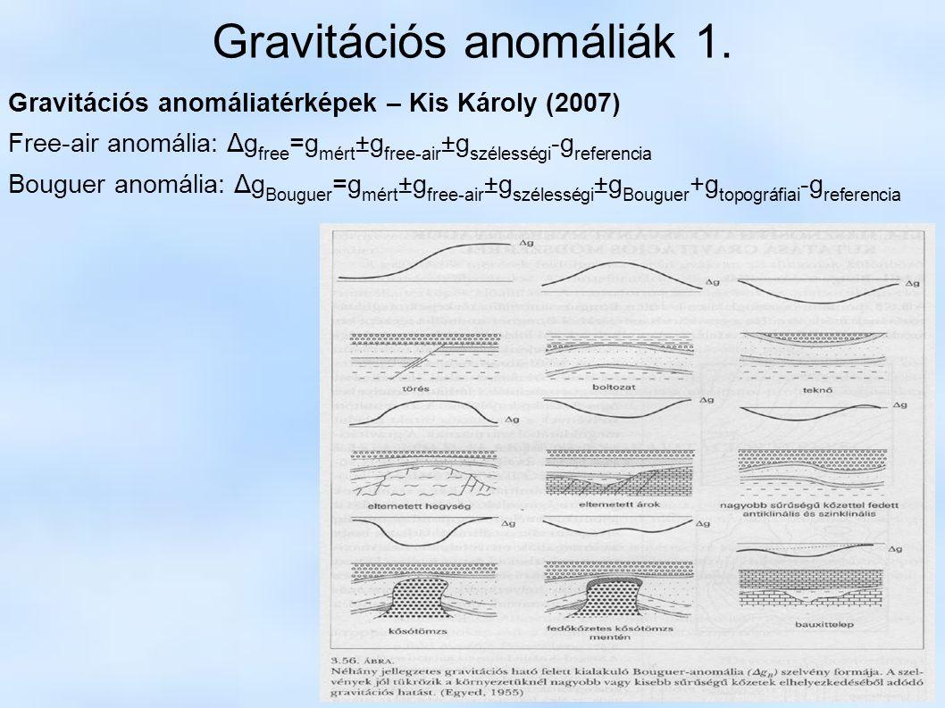 Gravitációs anomáliák 1.
