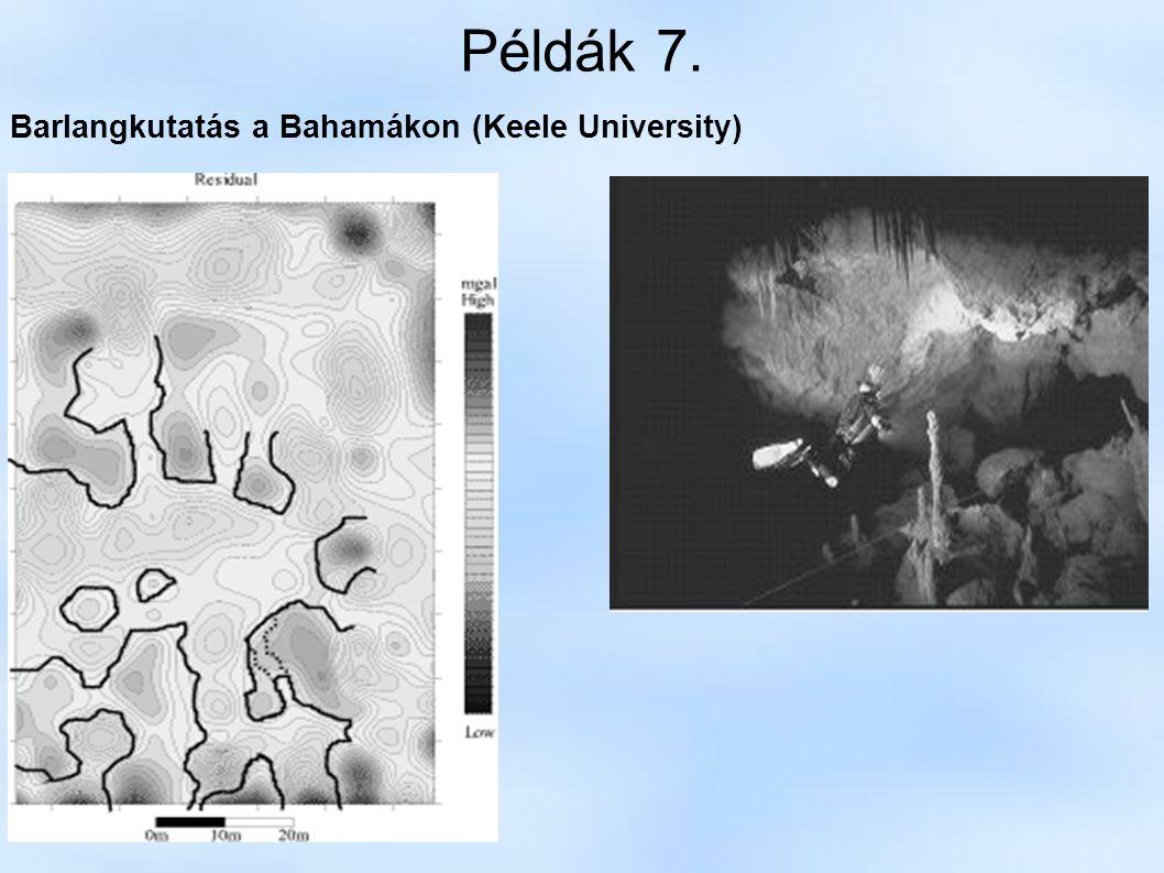 Példák 7. Barlangkutatás a Bahamákon (Keele University)